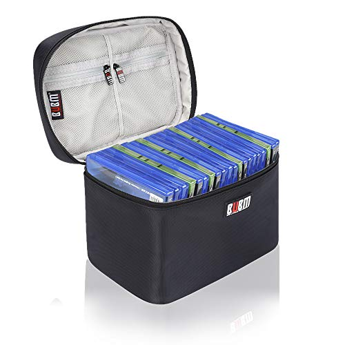 BUBM Portable Carrying Case Compatible with PS4/ PS4 PRO, Fit Xbox One Game Disc Storage Bag Travel...