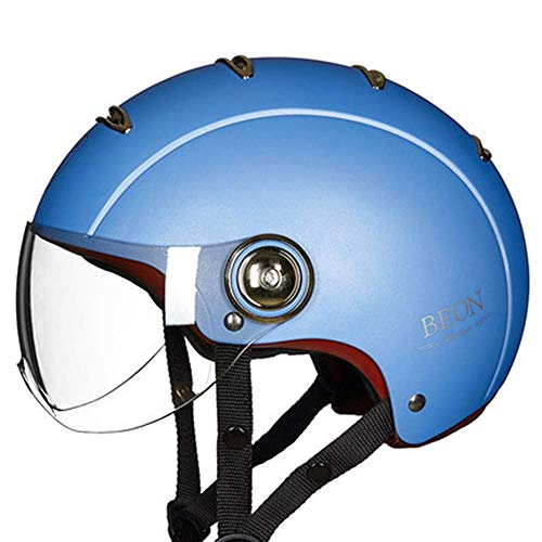 Motorcycle Helmet Bike Cruiser Scooter Skateboard Anti-Collision Helm Harley Half Helm Four Seasons Universal mannen en vrouwen's Head Protection comfortabel en ademend Ruiter, C, L 8bayfa
