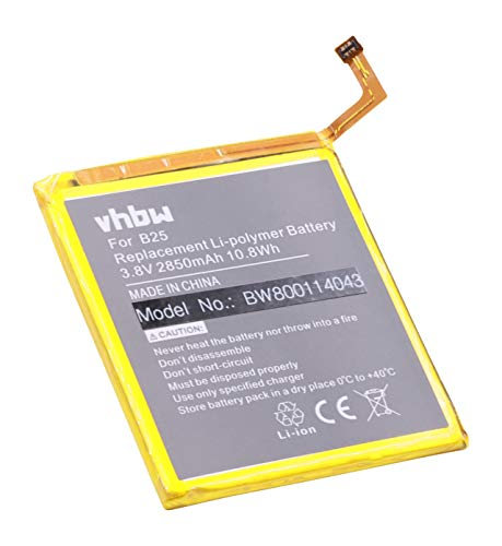 vhbw Litio polímero batería 2850mAh (3.8V) para móvil Smartphone teléfono BQ Aquaris E5 4G, E5 FHD, E5 LTE, E5.0