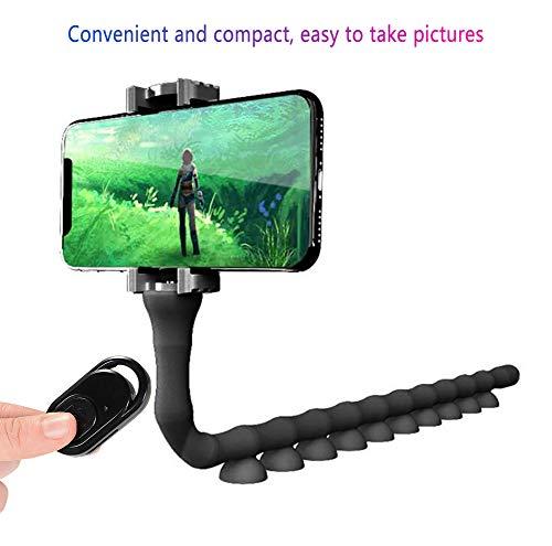 Feng Soporte para télefono móvil,Universal Cuello Soporte Giratorio Montaje Phone Stand/Caterpillar,Black