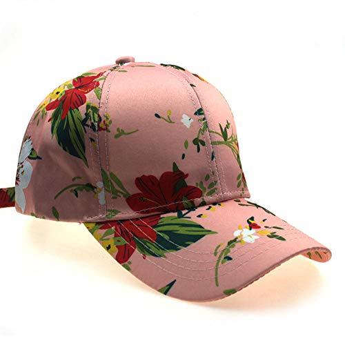 Gorra de béisbol Impresa Gorra de Flores de Moda Casual para Mujer Sombrero para el Sol al Aire Libre de Verano-1