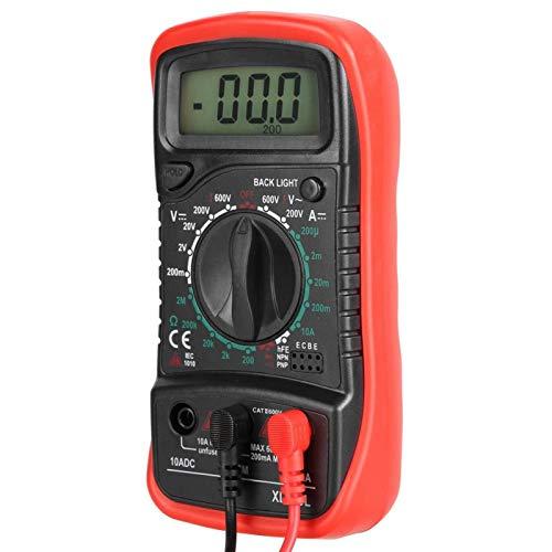 Multímetro Digital LCD de mano XL830L, voltímetro, amperímetro, ohmímetro, probador de voltaje de corriente para laboratorios, fábricas, radio(XL830L)