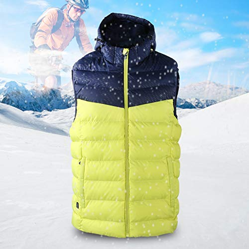 Naroote Heizweste, warme Männer Infrarot Heizung Kapuzenweste Jacke Mantel Winterkleidung Outfit 3 Stufen Temperatur Smart einstellbar(XL)