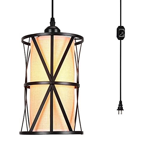 Swag Lights con enchufe en E27 Lámpara de iluminación Luz de iluminación Ajustable Altura ajustable Retro clásico Chandelier colgante elegante para cocina Comedor Sala de estar (Color : Europlug)