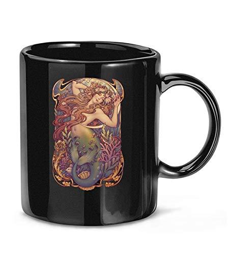 N\A Taza de café Relajada de la Sirenita de andersens para Mujeres y Hombres Tazas de té