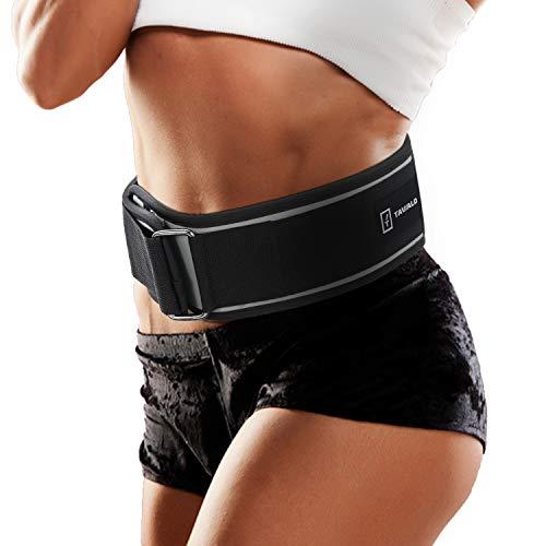 TAVIALO Cinturón Gimnasio Lumbar Crossfit, Cinturón Fitness Hombre y Mujer, Cinturón Halterofilia...