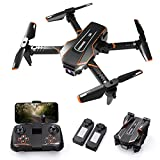 Q10 Mini Drone for Kids with Camera 720P HD FPV, Foldable Quarcopter with Gravity Sensor Mode, Headless Mode, 3D Flips, w/Voice and Gesture Control, Kids Gift Toys for Boys Girls
