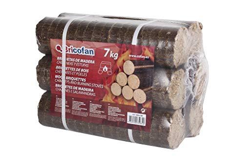 Briquetas de madera | Peso 7 kg | No contaminan | Para Chimeneas y Estufas