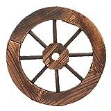 HAO KD Wood Wagon Wheel Wall Decoration Bar Restaurant Retro Wooden Craft Weeding Gardening Decoration