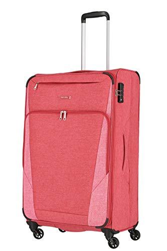 Travelite 4-Rad Weichgepäck Koffer Größe L mit Dehnfalte + TSA Schloss, Gepäck Serie JAKKU: Leichter Trolley im klassischen Design, 092549-10, 79 cm, 90 Liter (erweiterbar auf 97 Liter), rot