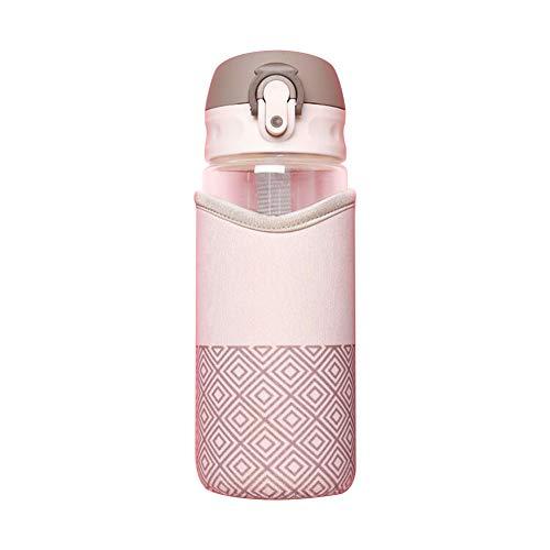 WeiMay 1 taza de cristal de moda con protección del medio ambiente, taza creativa, cuenco de regalo, 500 ml, tamaño: 22 cm x 6,5 cm