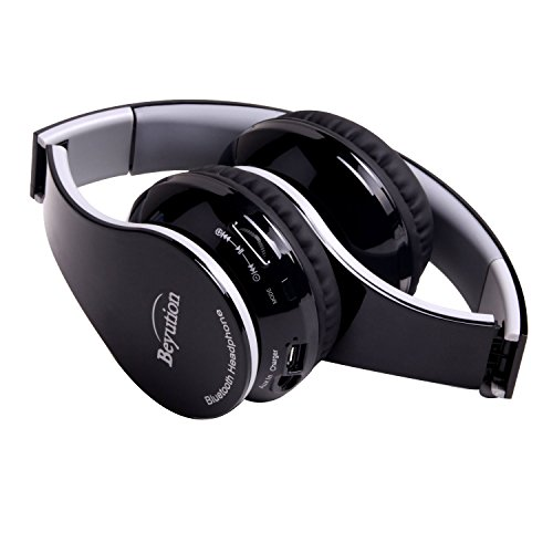 New Beyution@ Black Color Smart Stereo Hi-Fi Wireless Bluetooth Headphone-for All Tablet MID, Smart Cell Phone and All Bluetooth Device-with Retail Package, Best Gift!