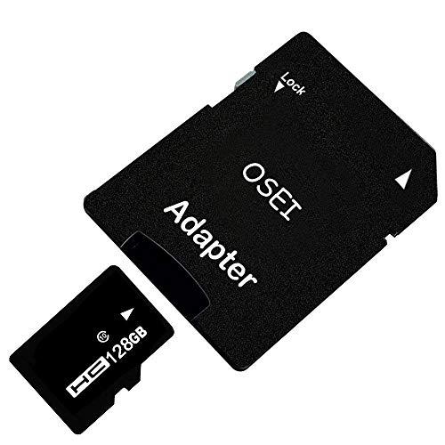 OSEI TFカード 4G 8G 16G 32G 64G 128G 256G Class10 メモリカード アダプタ付 SDHC マイクロSDカード 高速 SDスピードクラス データ転送 TFカード MicroSDカード 一年保証付き (128G)