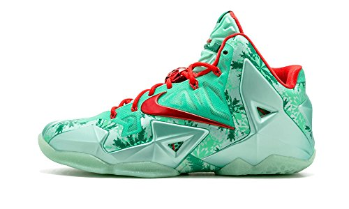 Lebron XI Christmas size 10 green/red 616175 301 (9)