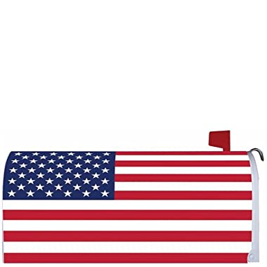AMERICAN FLAG U.S.A.  - Mailbox Makover Cover - Vinyl with Magnetic Strips