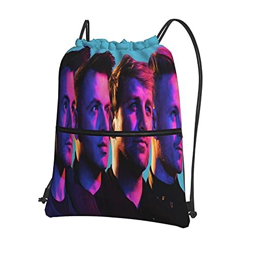 Westlife - Mochila deportiva con cordón, bolsa deportiva con cremallera exterior, mochila impermeable con cordón, bolsa de viaje para niños o niñas