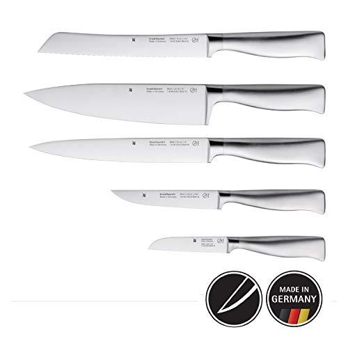 WMF Grand Gourmet Messerset 5-teilig, 5 Messer, Küchenmesser geschmiedet Performance Cut, Kochmesser