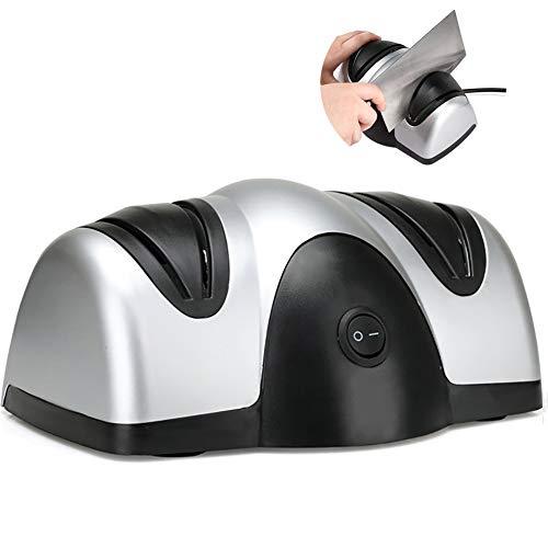Axpdefi Elektrischer Messerschärfer, Mersserschleifer-Machine mit Saugnäpfe und verschiedenen Schärfe-Stufen, Schwarz