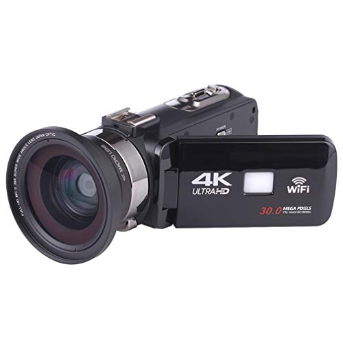 QAIYXM Camcorder Videokamera, WiFi HD 1080P 24MP 16X Leistungsstarke Digitalzoomkamera mit Mikrofon und Weitwinkelobjektiv Infrarot-Nachtsicht-YouTube-Videokamera,B
