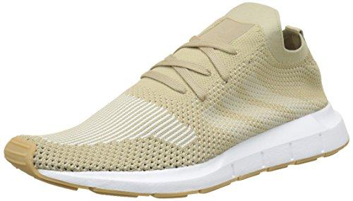 adidas Herren Swift Run Primeknit Gymnastikschuhe, Braun (Raw Gold S18/off White/FTWR White), 42 EU