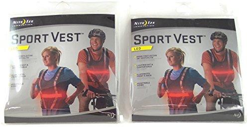 LED Sport Vest - Red - NRV2-08-10