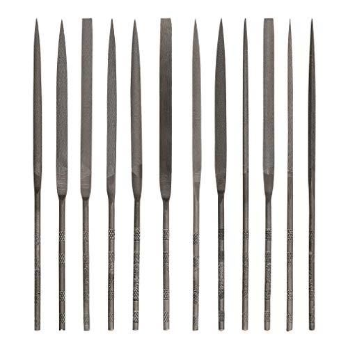 Mercer Industries GNSI52-12-Piece Swiss Pattern Needle File Set, Medium Cut, 5-1/2
