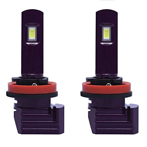 Mogzank 1 Par PúRpura X11 LED Bombillas para Faros Delanteros de Coche LáMparas LED para Coche H11 con 6500K 1860 Chip LED CSP 72W 10000LM