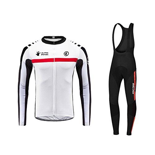 Uglyfrog Hommes Cyclisme Veste Thermique Respirant Cyclisme Vêtements Ensembles Long Manches Veste + Pantalon de Vélo Pantalon RTMX01