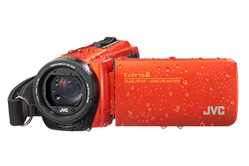JVC GZ-R495 HD Quad-Proof 40x Zoom Tough Camcorder - Orang