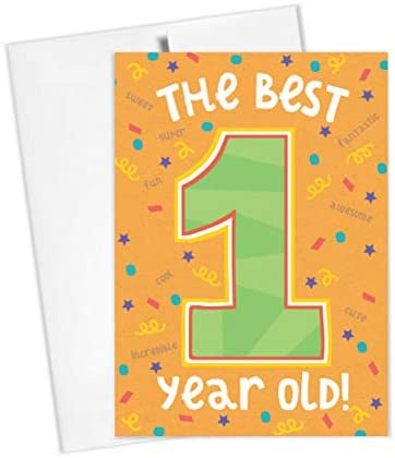 Tiny Expressions Happy Birthday Card for 1st 2nd 3rd 4th 5th Birthdays 1st Birthday Card product image