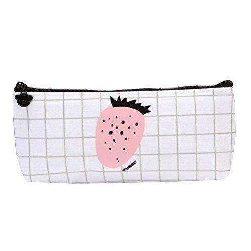 Toymytoy mignon sur toile étui à crayons crayon Sac Cosmétique Maquillage Pouch (grande Fraise) 22.5 x 7 cm Large Strawberry