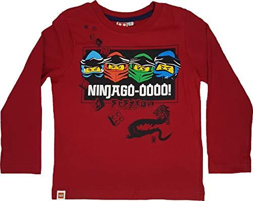 LEGO Ninjago Langarmshirt Pullover Jungen (Rot, 116)