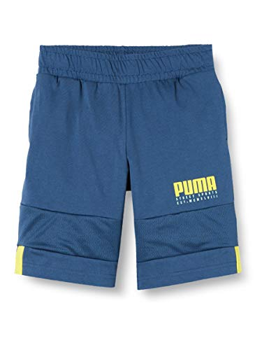 PUMA Jungen Alpha Jersey B Shorts, Dark Denim, 104