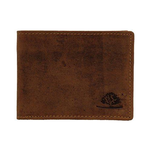 Greenburry Vintage 1661-25 Leder Minibörse Geldbörse Portemonnaie ohne Münzfach - by ModaStore de