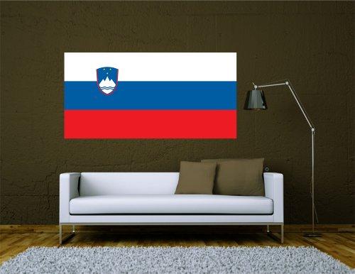 Kiwistar Wandtattoo Sticker Fahne Flagge Aufkleber Slowenien 60 x 30cm