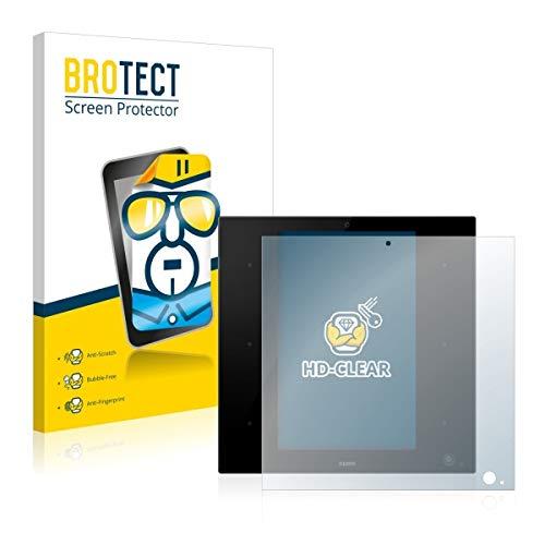 2X BROTECT HD Clear Displayschutz Schutzfolie für Zipato ZipaTile Z-Wave Zigbee Gateway (Kristallklar, extrem Kratzfest, schmutzabweisend)
