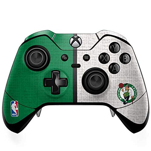 Skinit Decal Gaming Skin Compatible with Xbox One Elite Controller - Officially Licensed NBA Boston Celtics Canvas Design