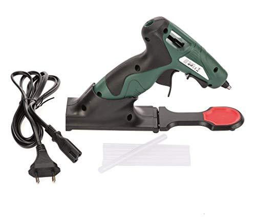 Glorex Pistolet à colle chauffante sans fil Vert 12W, avec station de charge
