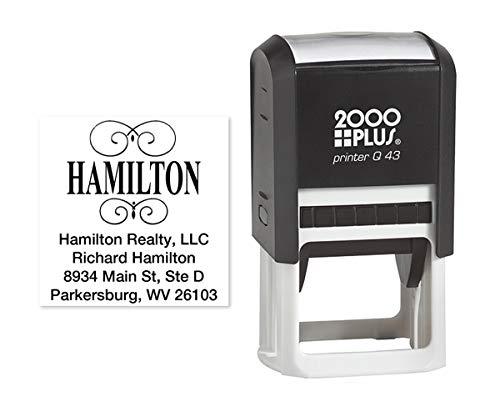 Personalized Square Designer Self-Inking Name & Address Stamp