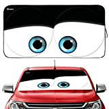 Gven Windshield Sun Shade, Disney Pixar Cars Sun Shade for Windshield Blocks UV Rays Sun Visor Protector 210t Keep Your Vehicle Cool (Eyes, Large)