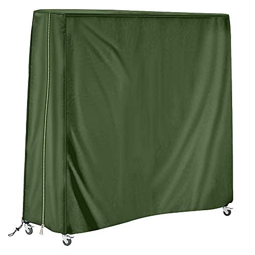 SoGuDio Housse de Table de ping-Pong,Usage extérieur,étanche,Crème Solaire,étanche à la poussière,Une Protection complète (Vert foncé)