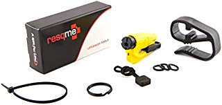 resqme The Original Keychain Car Escape Tool (Yellow) with Visor Clip and Lanyard Value Pack