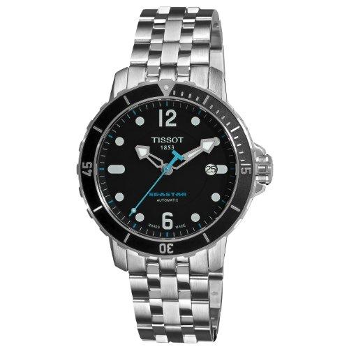 3cada90d8b7 Watches for Mens Best  Tissot Seastar Automatic Black Dial Men s ...