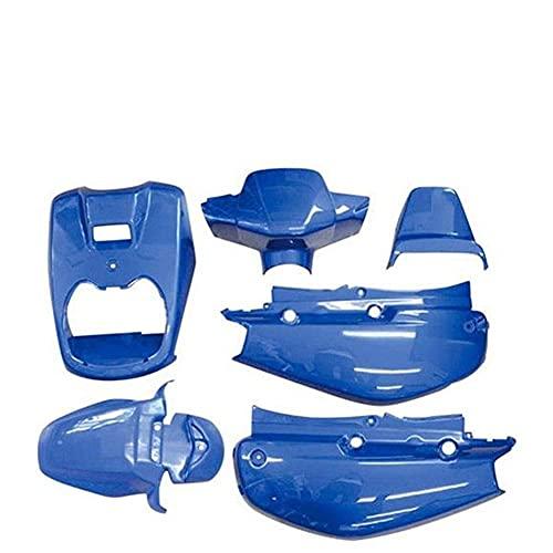 HEWE Accesorios de la Motocicleta FIT FOR FOR BWS100 4VP Motocicleta Scooter Completo Juego Cuerpo Feria Plastic Malf Ventana Cuerpo Cubierta de plástico Decoración del Coche (Color: Azul 6pcs)