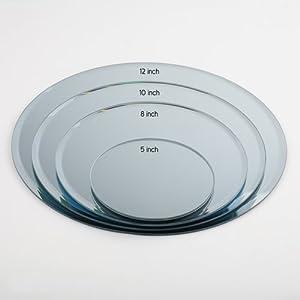 Espejo Eastland, redondo, para la decoración de mesas, de 30 cm (juego de 10 unidades)