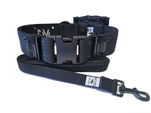 M1-K9 Big Military Dog Collar (Gen. 3, Adj. 16'-26', Tactical Black)