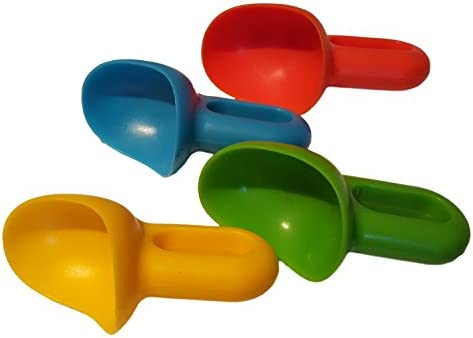 Set of 4 Ice Cream Scoopers Kids One Scoop for Ice Cream Frozen yogurt etc with a Non Drip Design product image