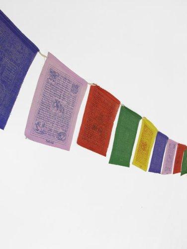 1000 Flags El Tíbet Tibetano oración Banderas de tamaño Mediano–Hecho a Mano en Nepal