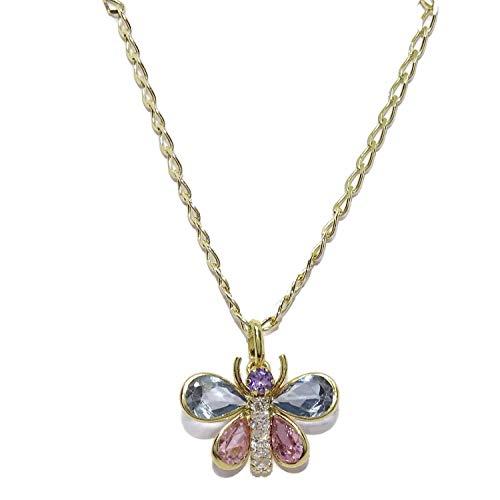 Never Say Never Precioso Colgante de Mariposa de Oro de 18k con circonitas y circonitas de Color y...