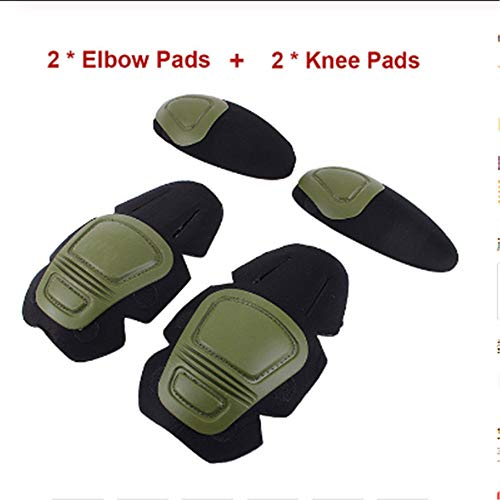 LUOSI Knee Pads Military Tactical G2 G3 Frog Suit Knee Pads /& Elbow Support Paintball Airsoft Kneepad Interpolated Knee Protector Set
